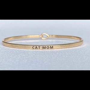 Cat mom inspired bangle bracelet